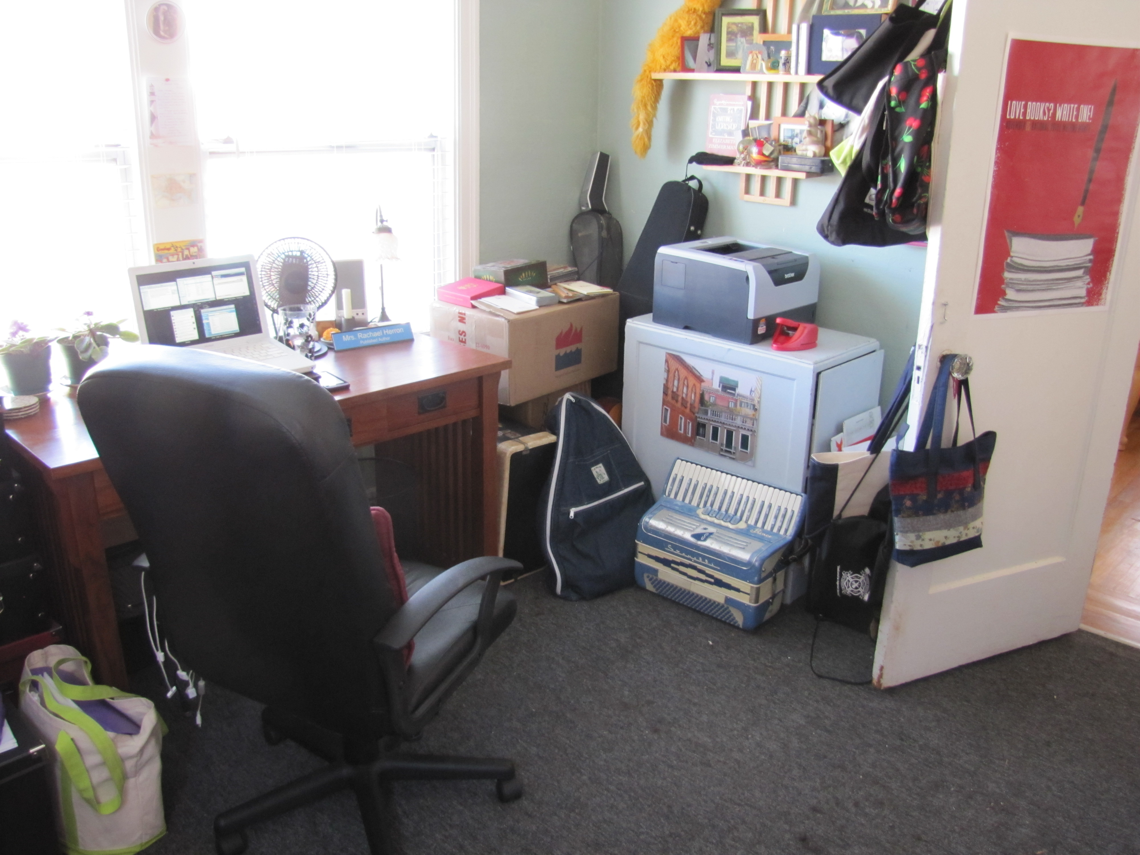 See There S My Lovely Desk All Clear And Ready To Go Where The Standing Why Here It Is