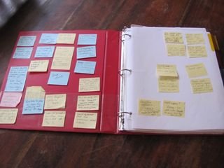 How to revise a novel using Post-its